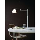 Herstal New Swing Dove bordlampe hvid glas og grafit